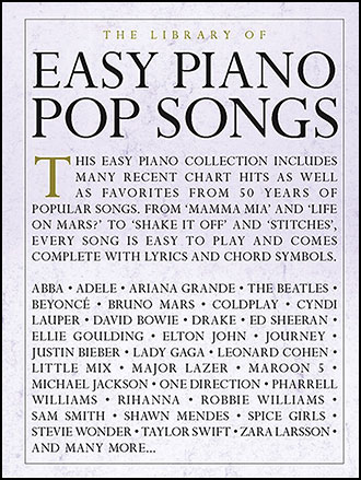 The Library Of Easy Piano Pop Songs Easy P Jw Pepper Sheet Music