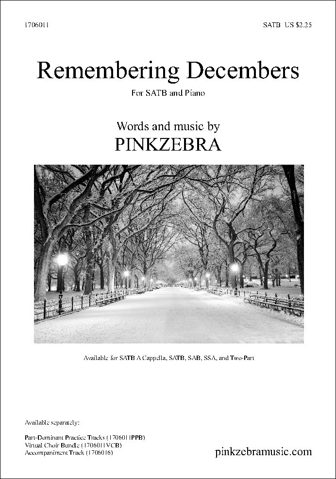 Remembering Decembers choral sheet music cover