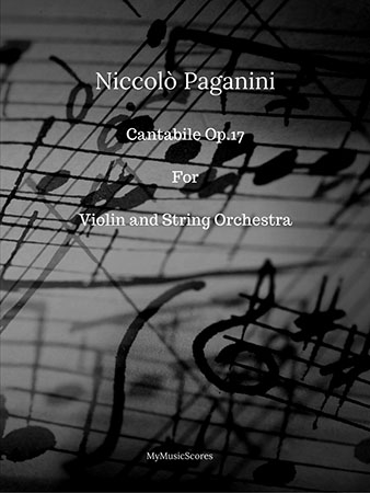Paganini Cantabile for Violin and String Orchestra