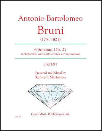 6 Sonatas for Viola, Op. 27