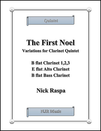 The First Noel (Variations for Clarinet Quintet)