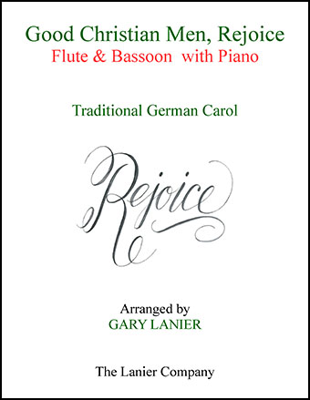 Good Christian Men, Rejoice (Flute, Bassoon with Piano)