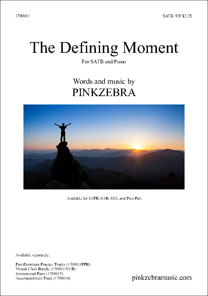 The Defining Moment choral sheet music cover