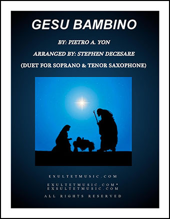 Gesu Bambino (Duet for Soprano and Tenor Saxophone)