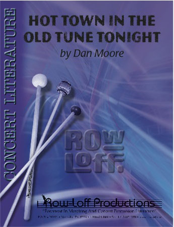 Hot Town in the Old Tune Tonight percussion sheet music cover