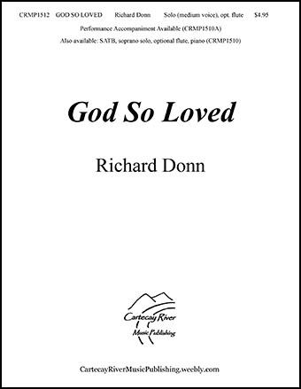 God So Loved - Medium Voice (opt. flute)