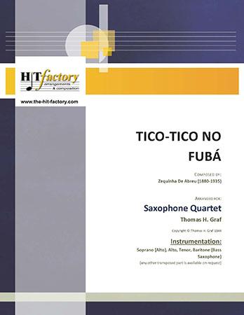 Tico-Tico no Fuba - Choro - Saxophone Quartet