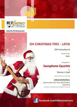 Oh Christmas tree - Latin - (Oh Tannenbaum) - Saxophone Quartet