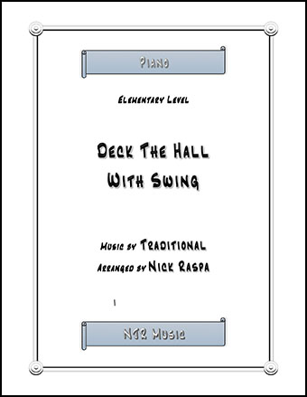 Deck The Hall With Swing (elementary piano)