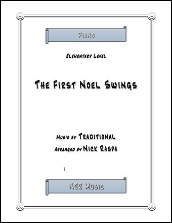 The First Noel Swings (elementary piano) Thumbnail