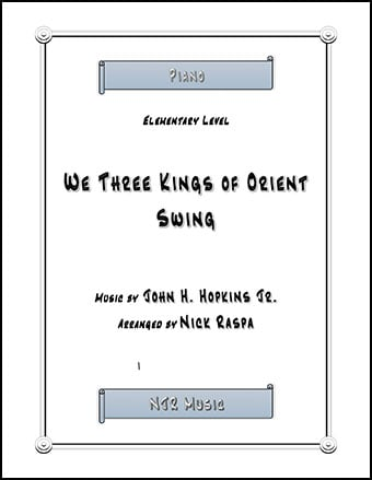 We Three Kings of Orient Swing (elementary piano) Thumbnail