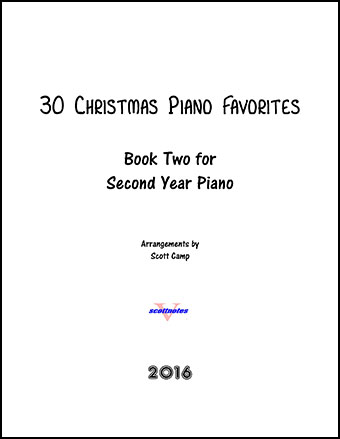 30 Christmas Piano Favorites for Second Year Piano