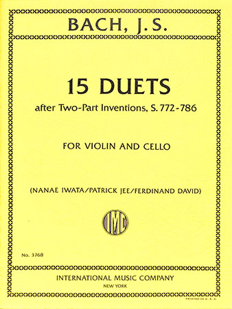 15 Duets after Two-Part Inventions, S. 772-786