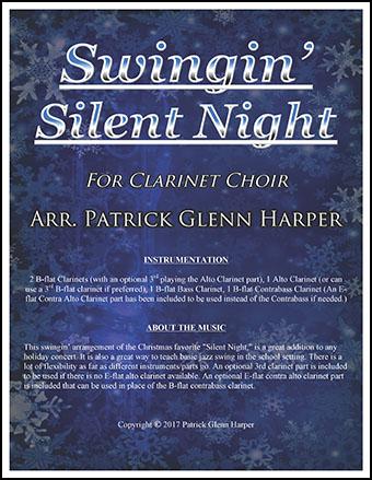 Swingin' Silent Night - for Clarinet Choir