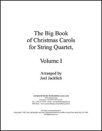 The Big Book of Christmas Carols for String Quartet, Vol. I