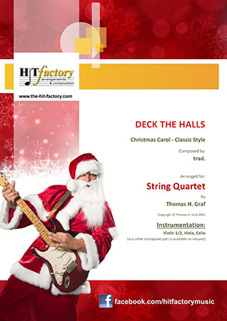 Deck the Halls - String Quartet