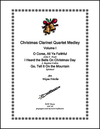 Christmas Clarinet Quartet Medley Volume I