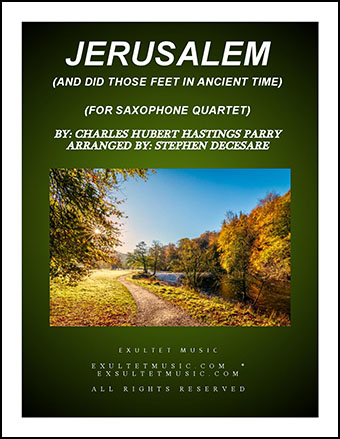 Jerusalem (for Saxophone Quartet)