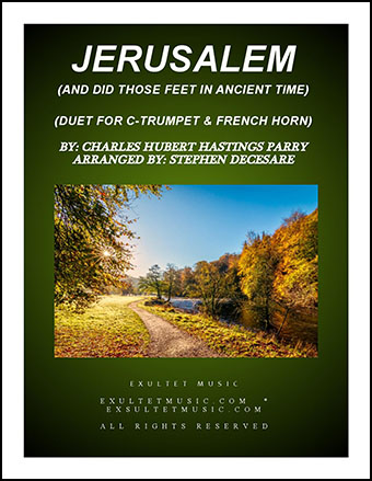 Jerusalem (Duet for C-Trumpet and French Horn)