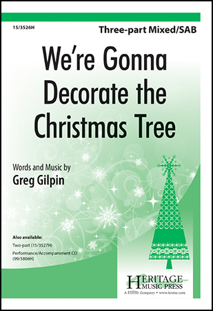We're Gonna Decorate the Christmas Tree choral sheet music cover