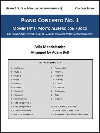 Mendelssohn Piano Concerto No. 1, Mvt. I