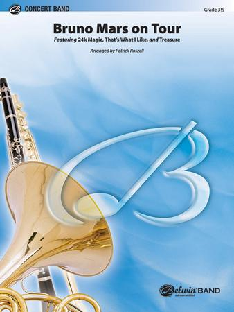Bruno Mars on Tour band sheet music cover