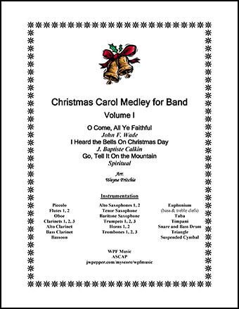 Christmas Carol Medley for Band, Volume I