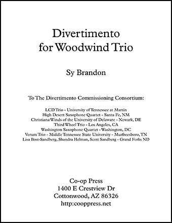 Divertimento for Woodwind Trio