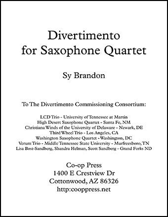 Divertimento for Saxophone Quartet