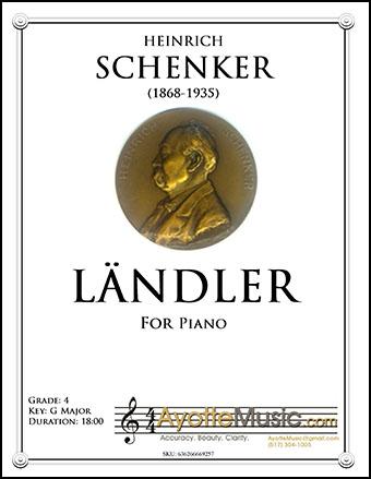 Landler for Piano, op. 10