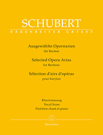Schubert: Selected Opera Arias for Baritone