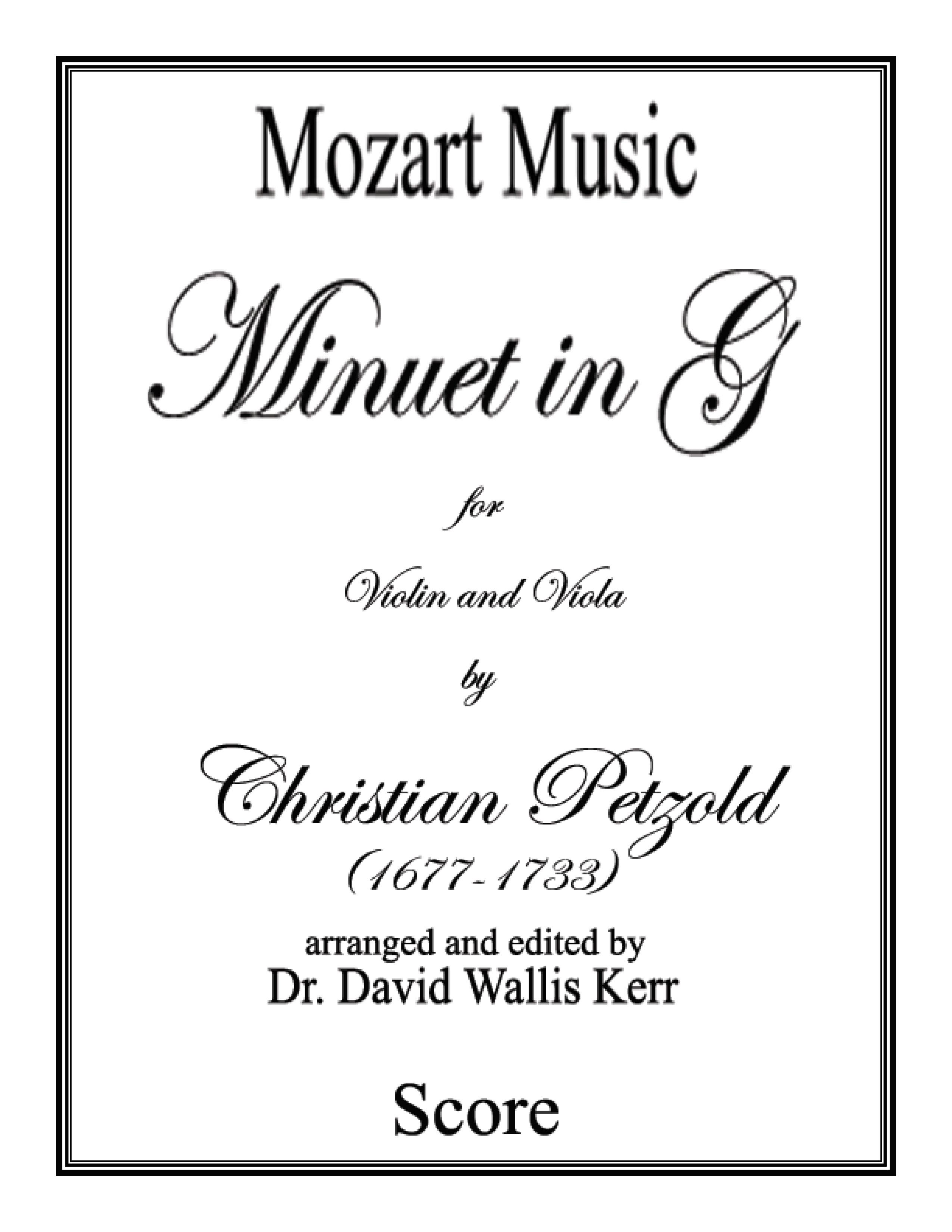 Minuet In G String Duet By Christian Jw Pepper Sheet