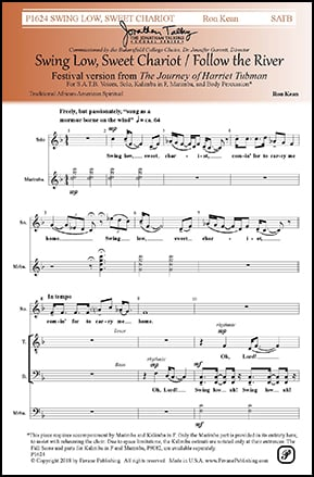 Swing Low Sweet Chariot / Follow the River (SATB& | J W