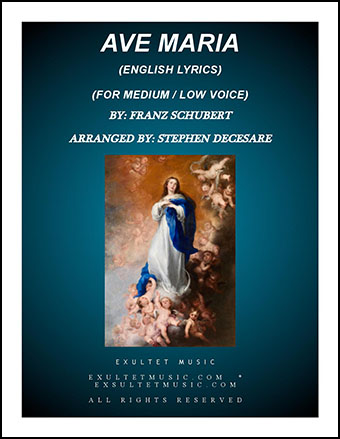 Ave Maria (English Lyrics - Low Key)
