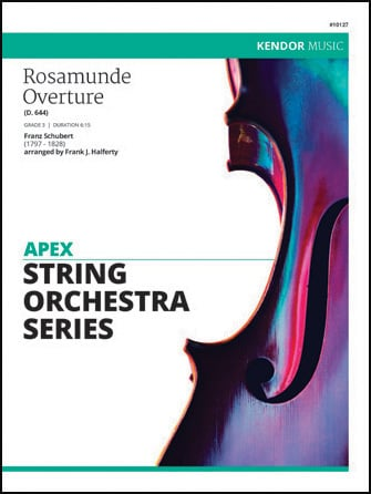 Rosamunde Overture orchestra sheet music cover