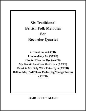 Six British Melodies for Recorder Quartet