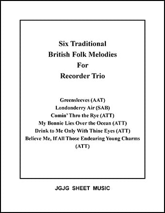Six British Melodies for Recorder Trio