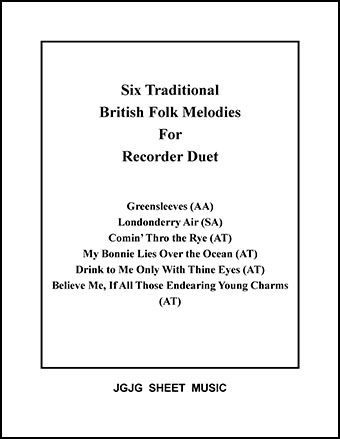 Six British Melodies for Recorder Duet