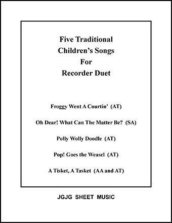 Five Children's Songs for Recorder Duet