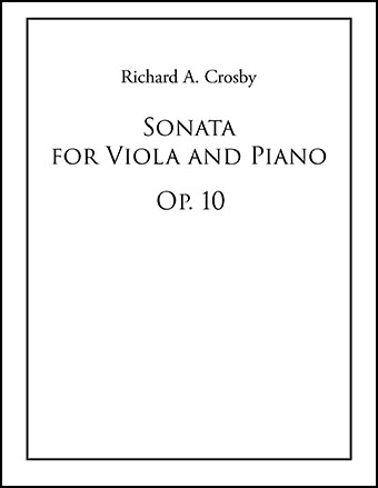 Sonata for Viola and Piano, Op. 10