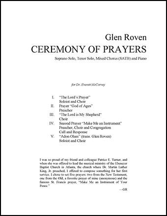Ceremony of Prayers