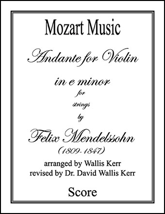 Andante for Violin in e minor