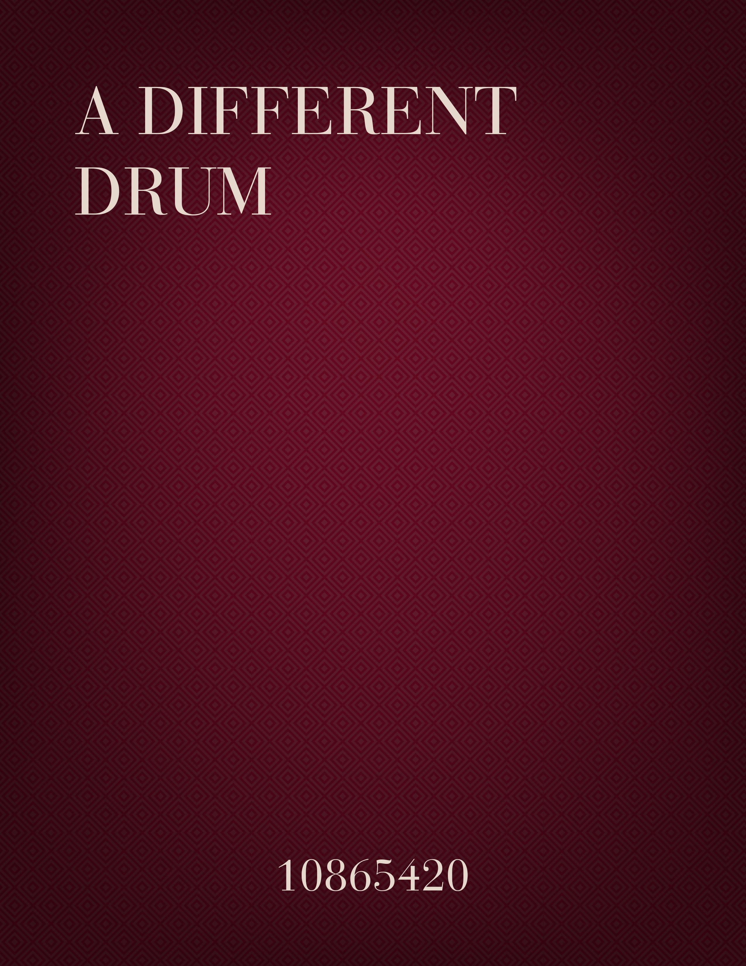 A Different Drum (3-part)