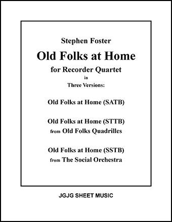 Old Folks at Home (Recorder Quartet)