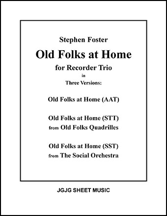 Old Folks at Home (Recorder Trio)