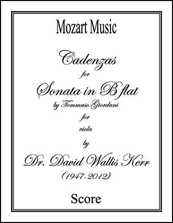 Cadenzas for Sonata in B flat
