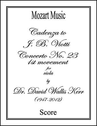 Cadenza to Concerto No. 23, 1st movement