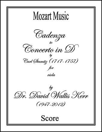 Cadenza to Concerto in D