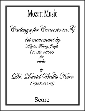 Cadenza for Concerto in G, 1st movement