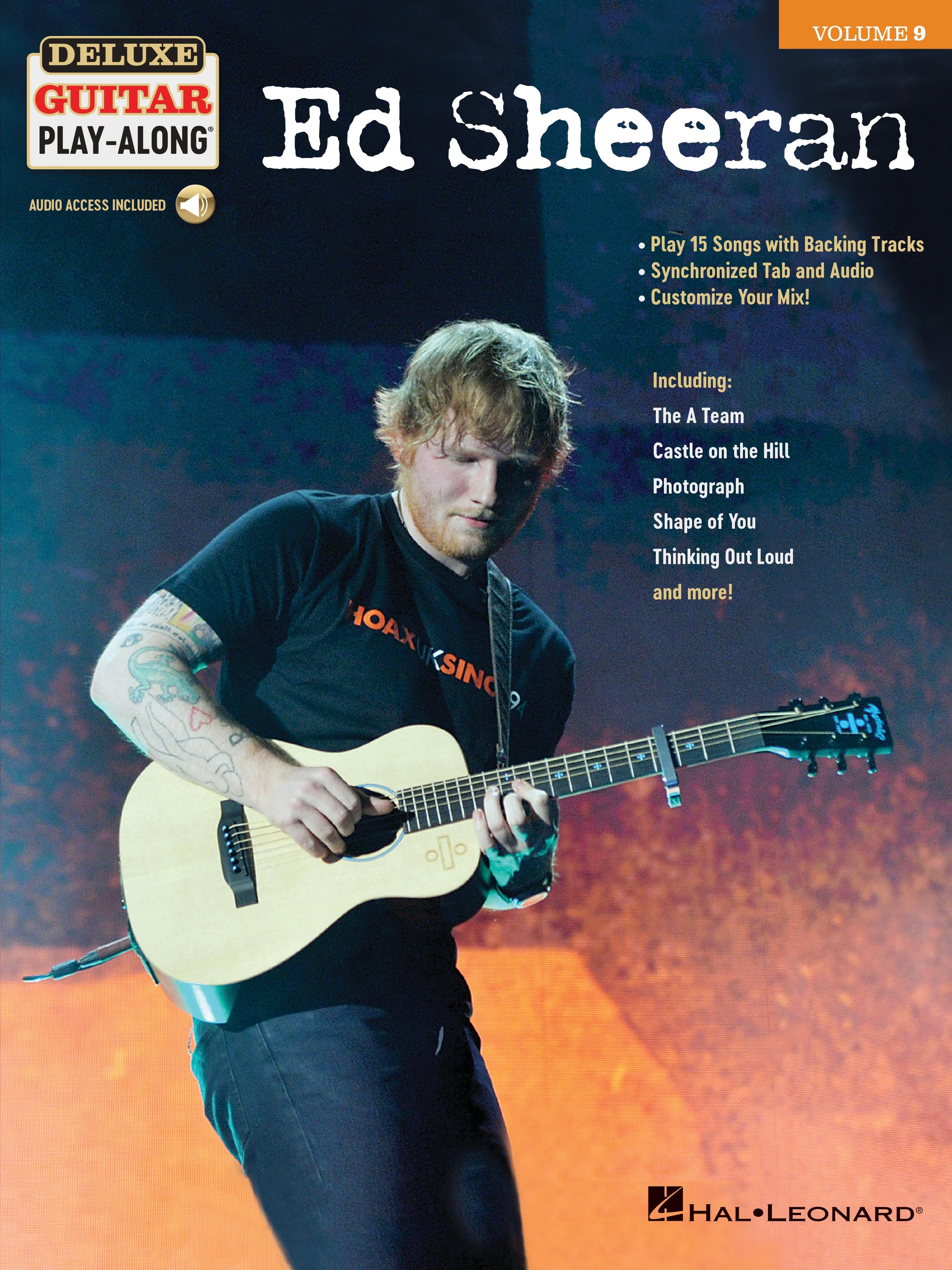 Deluxe Guitar Play-Along, Vol. 9: Ed Sheeran guitar sheet music cover